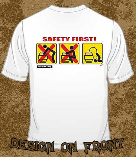 safety first funny t shirts
